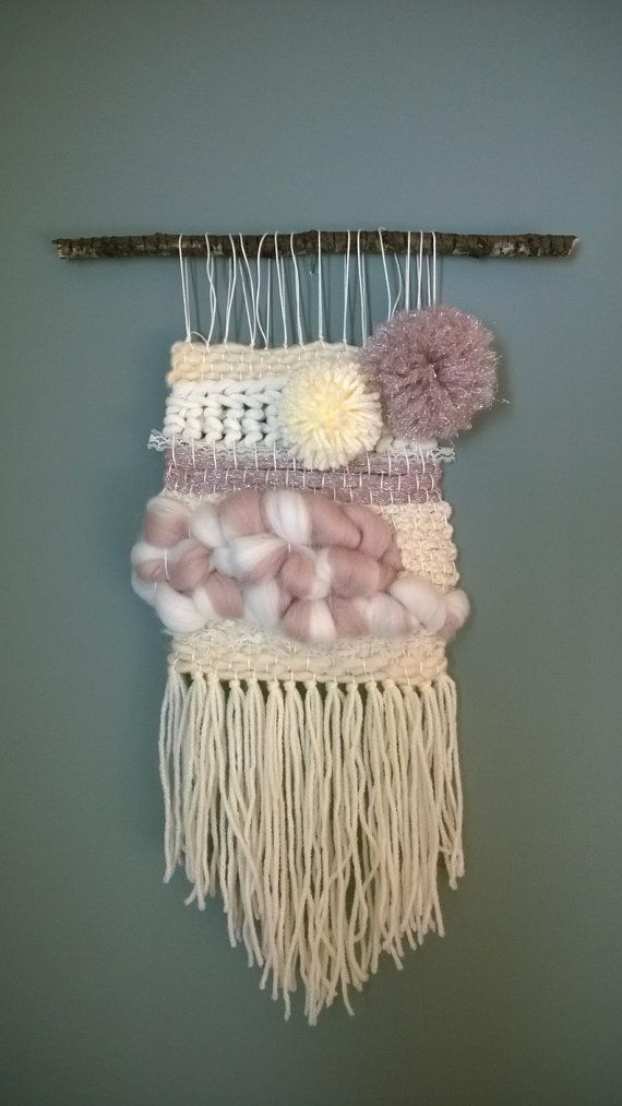 Tissage en laine mural décoratif MERINOS dentelle. par TxikiTiss