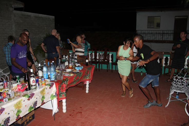 Dancing #Salsa in #Trinidad Party with Raydel. #Dance #Cuba #Tour
