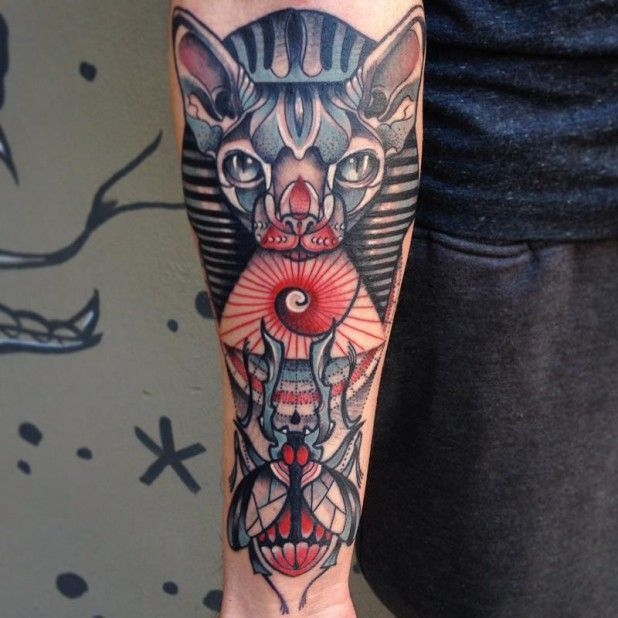 Картинки по запросу scarab beetle chest tattoo