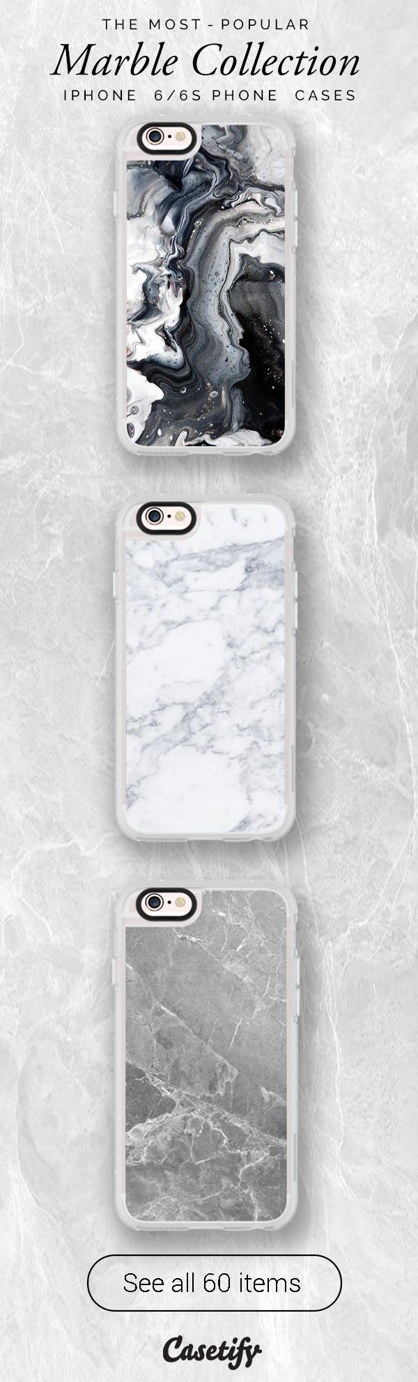 All time favourite marble iPhone 6 protective phone case designs. Marble never go out of style! | Click through to see more iphone phone case ideas >>> https://www.casetify.com/collections/marble/ | @casetify