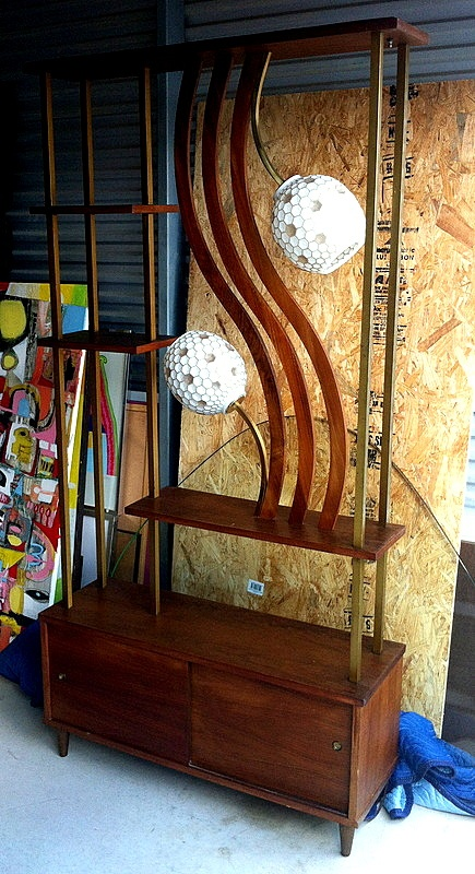 Room Divider - Shelf, lamp & storage unit.