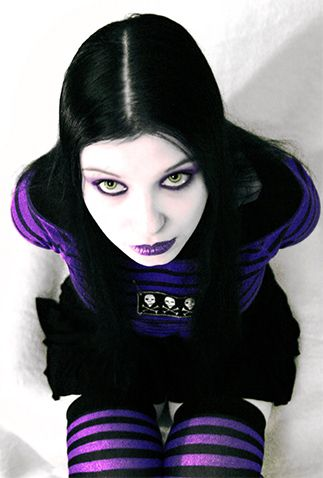 purple and black #goth girl