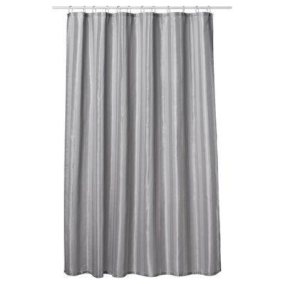 Charlton Home Ingleside Single Shower Curtain Color Dark Gray Extra Long Shower Curtain Long Shower Curtains Shower Curtain
