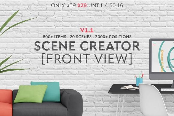Scene Creator [Front View] by Qeaql on @creativemarket