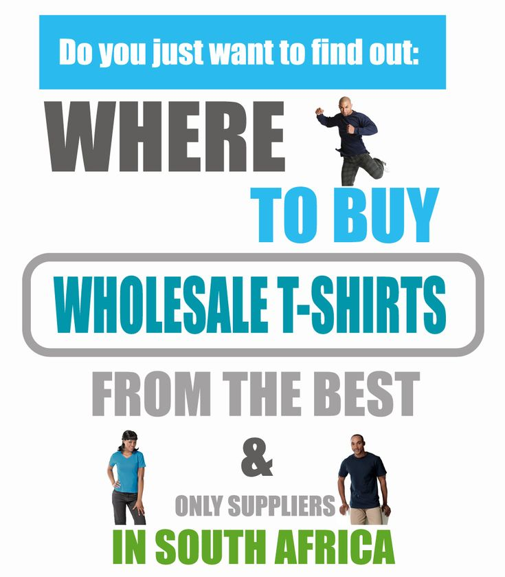 Where to buy wholesale t-shirts from the best suppliers in South Africa Ebook