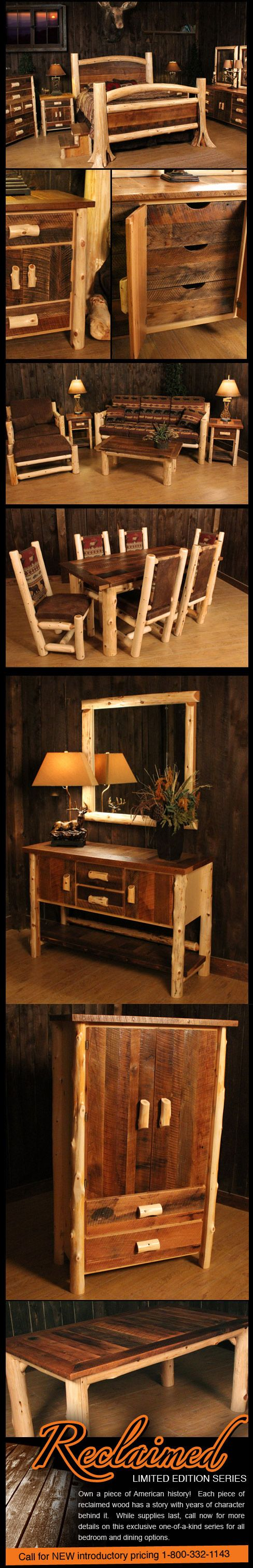 Reclaimed Wood Log Furniture. I can totally see my cousin Whit & Claire  doing many - 25+ Best Ideas About Reclaimed Wood Furniture On Pinterest Barn
