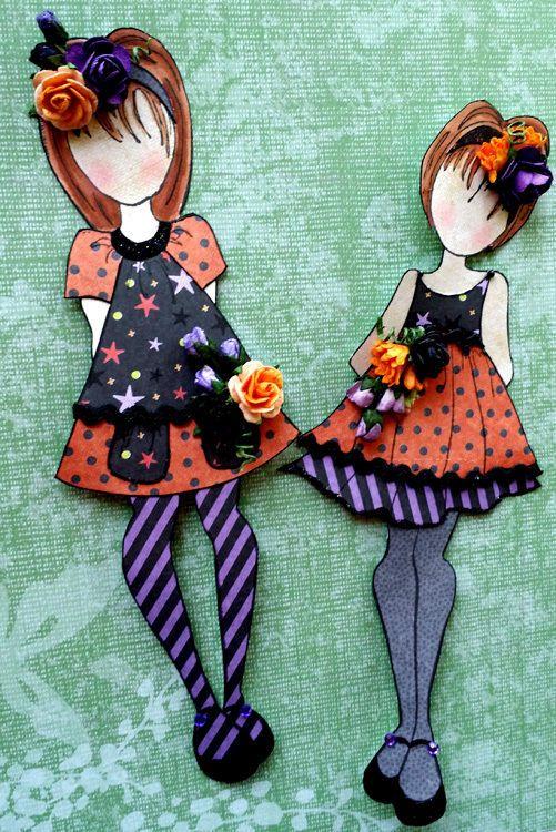 TPHH cheryl c Handmade Prima Julie Nutting Paper Dolls Halloween Premade Chic