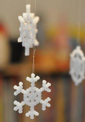 20 idées créatives à réaliser avec des perles Hama. Snow