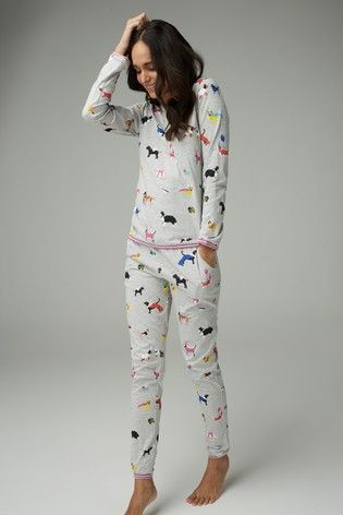 6c3f42ff44 Buy Grey Fancy Dress Dog Pyjamas With Ribbon Wrapping from the Next UK  online shop