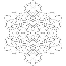 dont eat the paste heart snowflake coloring page