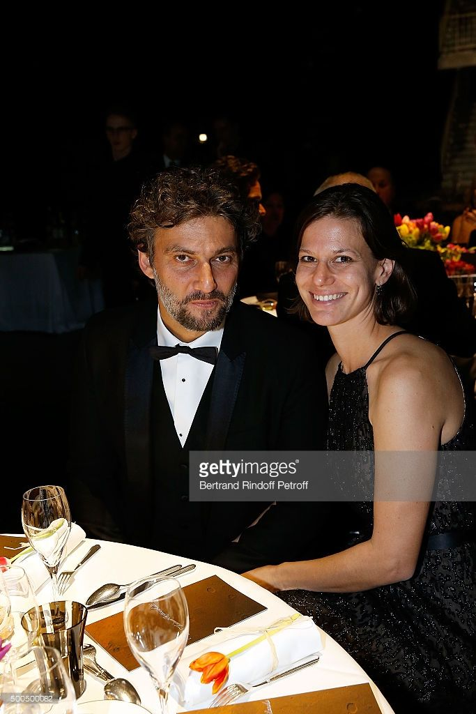Jonas Kaufmann and his Partner attend the gala of AROP and the Representation of 'La Damnation de Faust' at Opera Bastille on December 8, 2015 in Paris, France.