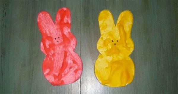 Coniglietti da colorare con acquerelli