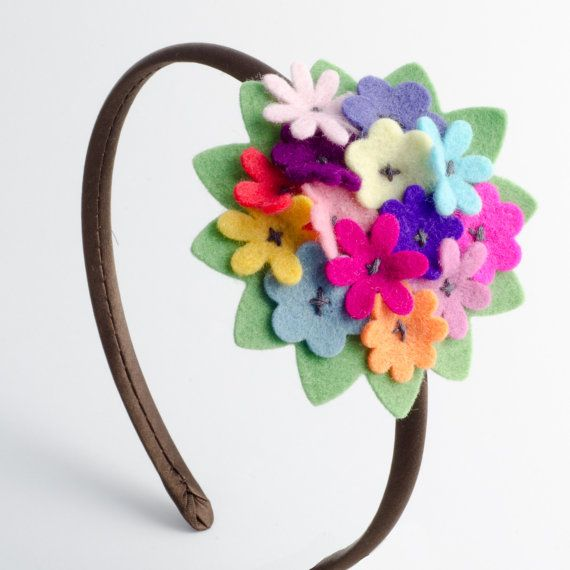 Baby headband / girls headband  Bouquet of by BunnynBlossom