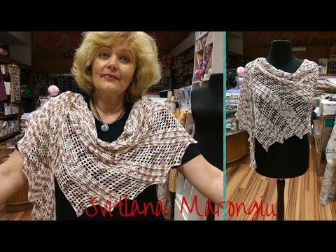 Tutorial Copri spalle facile all'uncinetto -bolero - spiegazione punto traforato all'uncinetto - YouTube
