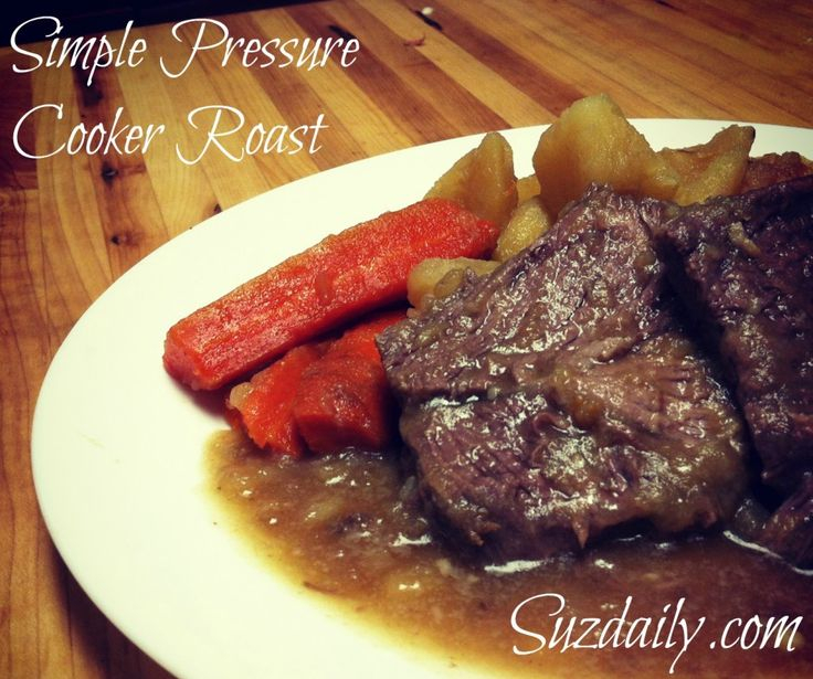 How to make a Roast in under an hour - use your pressure cooker!  Comes out tender every time.  Very simple way to cook a roast.