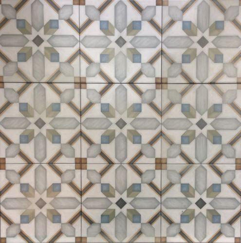 Victorian Encaustic Effect Retro Style Ceramic Floor