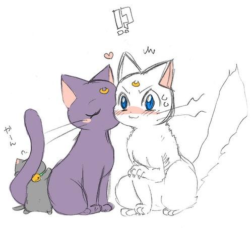 Luna and Artimas~Kitty Smooch