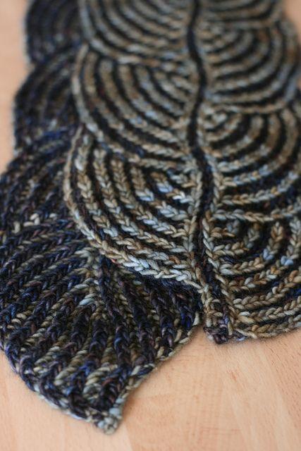 ...Hosta Brioche Scarf by Nancy Marchant, as knit by jen...