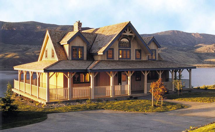Timber frame construction Wrap around timber frame entry porch Normerica overhang Mutliple walkouts to deck Cathedral ceiling great room and foyer Exterior timber truss detailing Main floor master suite Gable dormer windows in upstairs bedrooms Optional 1,405 square foot walkout basement level offers games room,...
