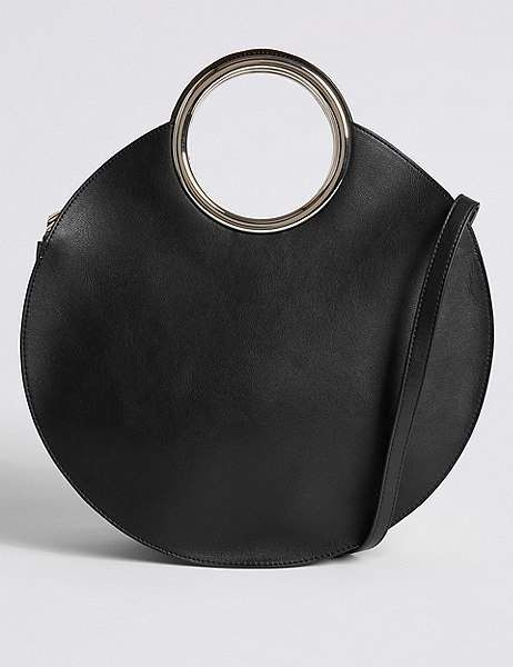 5c1bfd9ec3e Marks and Spencer Faux Leather Circle Handle Cross Body Bag | Shop ...