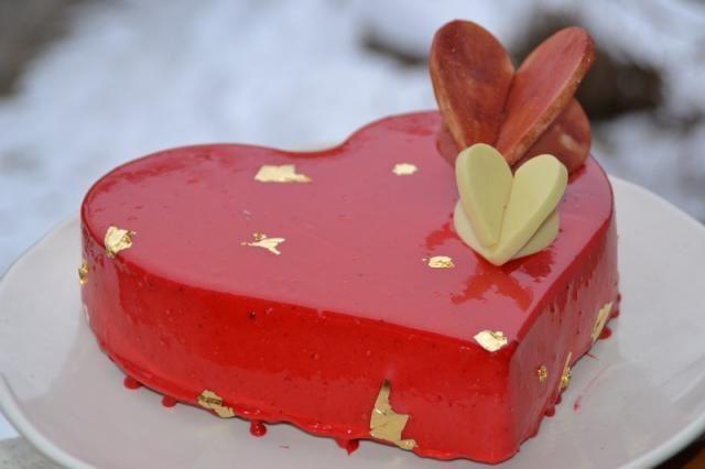 Coeur entremet framboise et citron pour la Saint-Valentin, Recette de Coeur entremet framboise et citron pour la Saint-Valentin par Fadila - Food Reporter