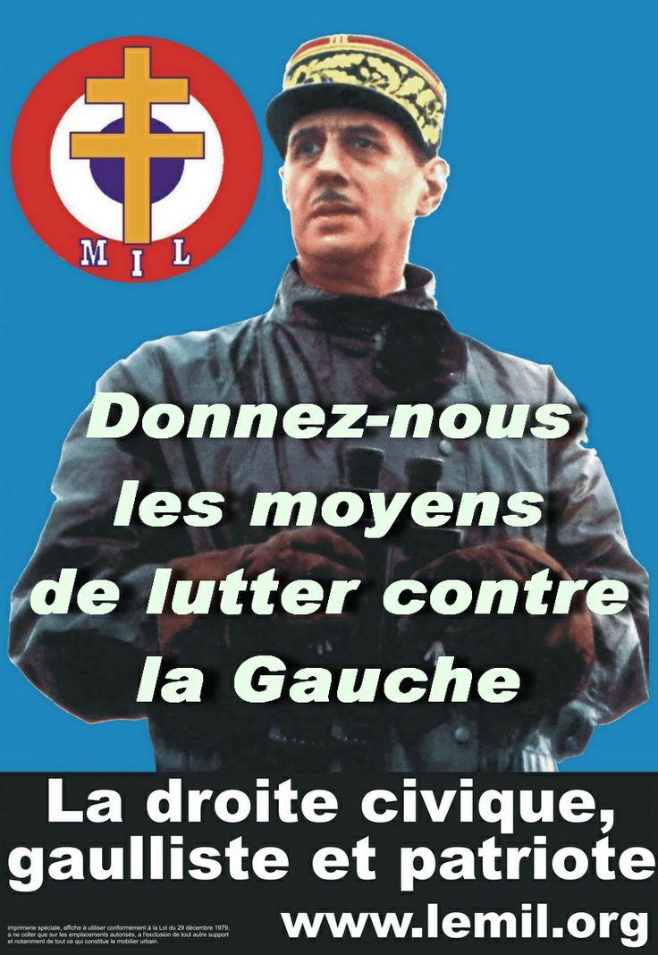 Mouvement initiative et liberté (MIL). Fondé en 1981. Antigauchiste, Gaulliste, Patriote. Associé à l'UMP.