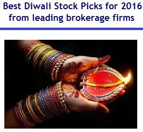 This article is about Best Diwali Stock Picks for 2016 from leading brokerage firms. Samavath 2073 stock picks for 2016 and Diwali Stock Picks 2016