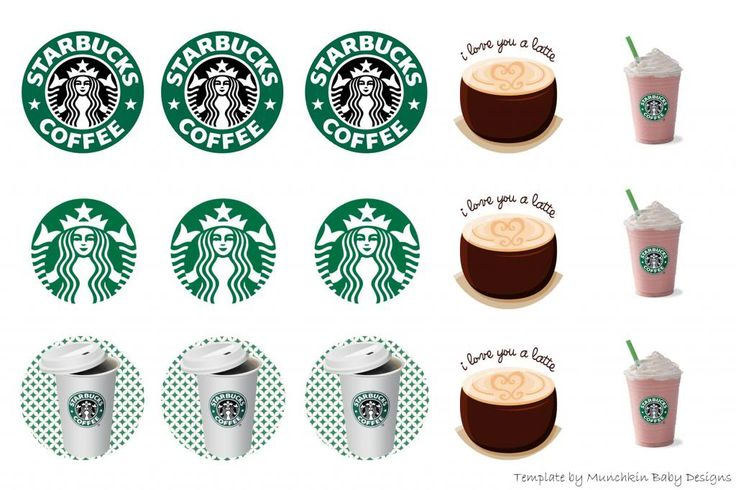 starbucks 1 u0026quot  bottle cap printable