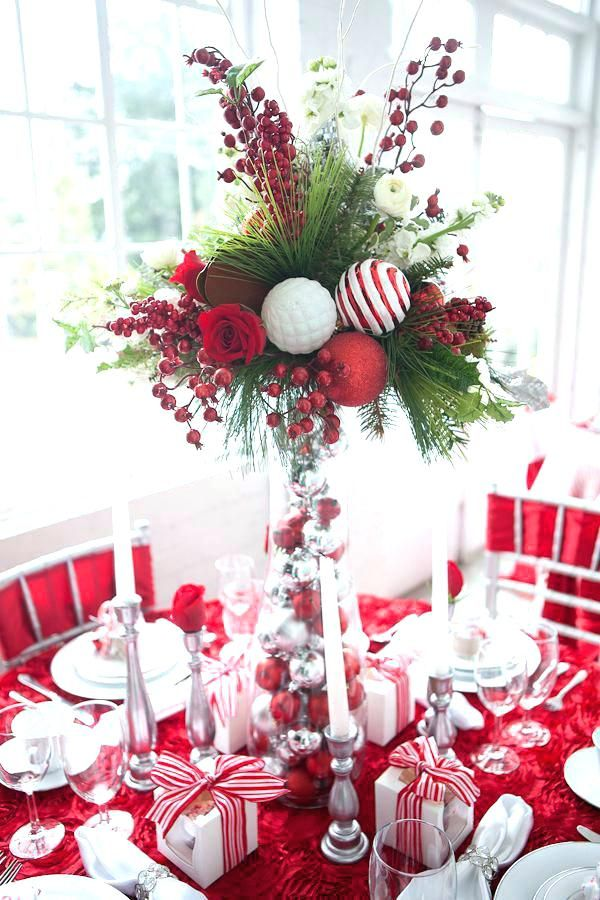 32 Most Popular Decoration Ideas On Pinterest Thelatestdailynews Holiday Table Decorations Christmas Table Decorations Holiday Centerpieces