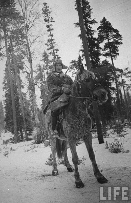 Russian-Finnish War 1939-1940 – the Winter War. Life Magazine, Frost and cold it was up to 30-40 degrees.