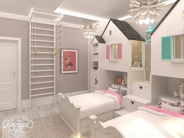дизайн детской комнаты для двух девочек: 18 тыс изображений найдено в Яндекс.Картинках