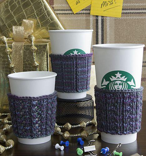 Estas mangas de café-copo em um trio de padrões de costura em sp cafeína ...