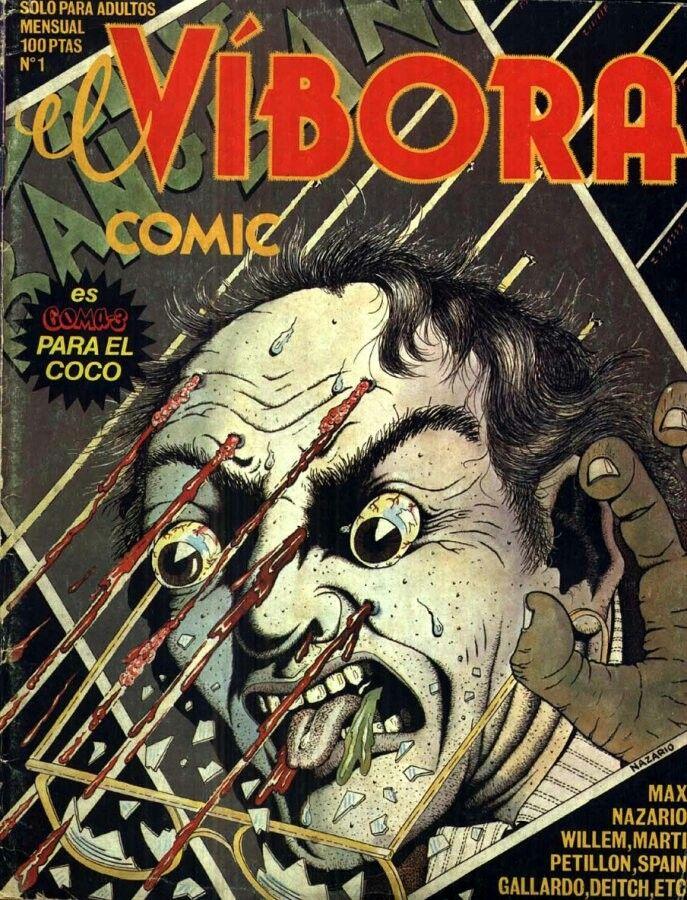 El Vibora #1, portada de Nazario