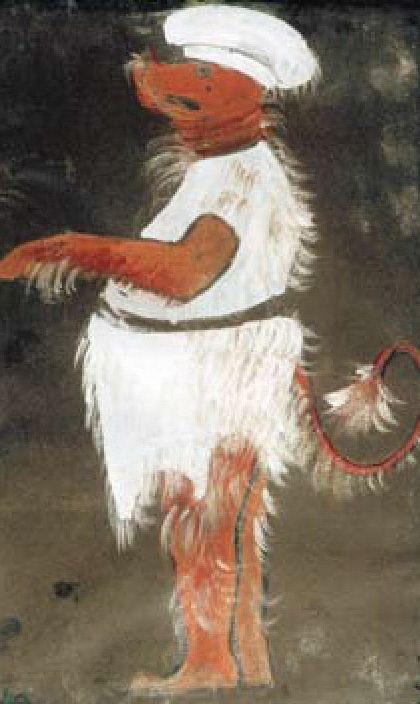 Н.К.Рерих. Тролль в белом костюме. 1912