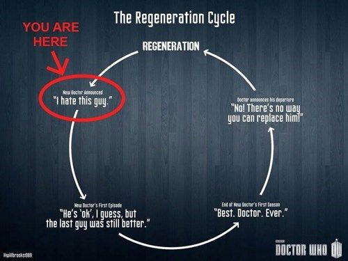 To those of you who are not crazy about the new Doctor, you'll get there. I can't wait to see how Capaldi will be