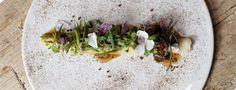 Découvrez la recette végétarienne gastronomique de poireaux fumés, fromage de chèvre mariné et noix. Un vrai délice pour les yeux et…