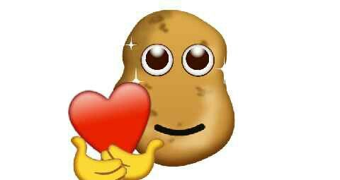 If you are ever feeling down remember this potato loves you