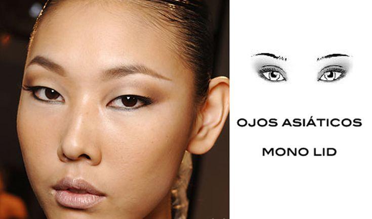 dibuja ojos asiáticos