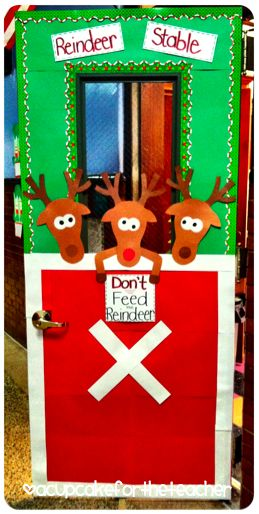 Christmas door display