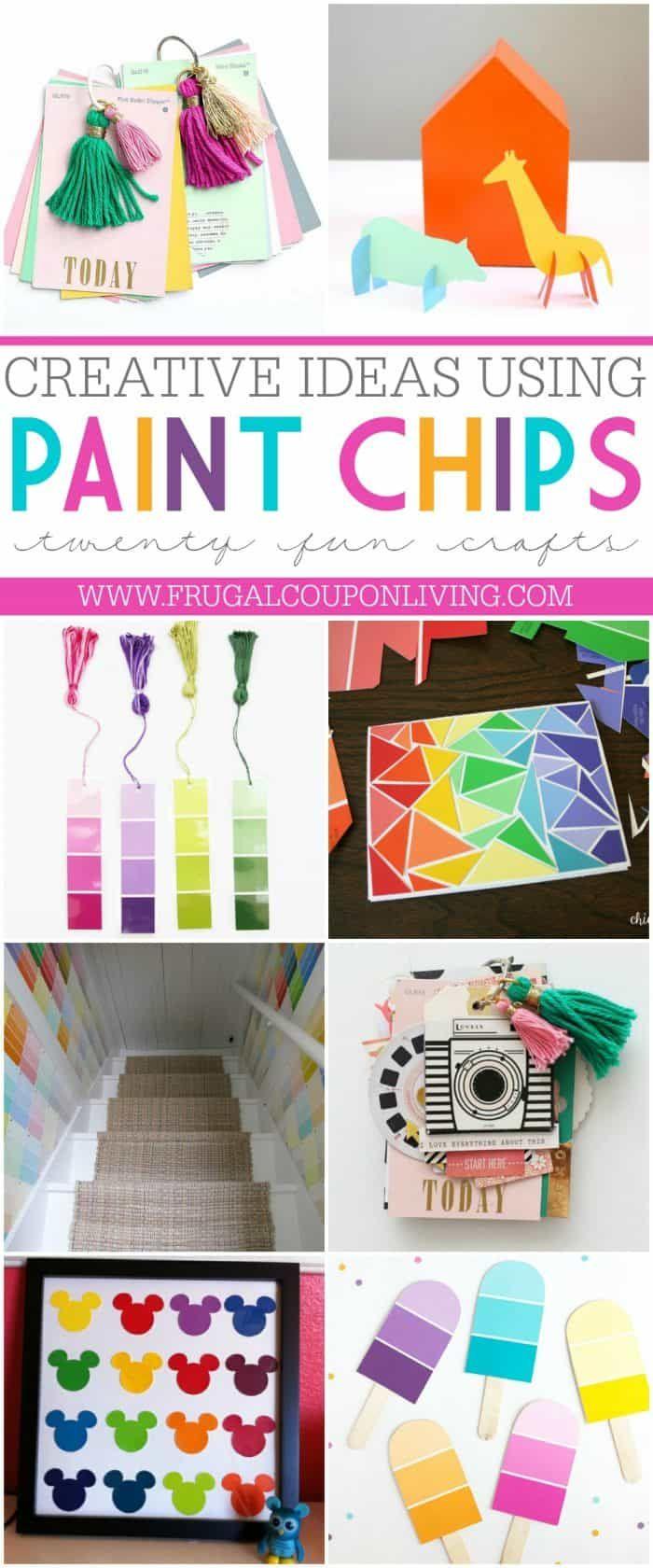 Paint Chip Crafts Paint Samples Crafts Paint Chip Cards Paint Chip Crafts