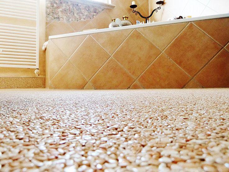 Steinteppich verlegen in Bad und Dusche | Steinteppichberater