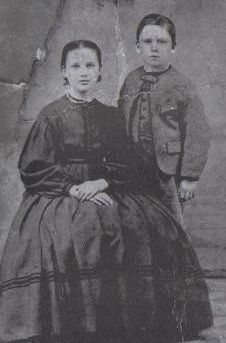 Alice and Almanzo Wilder; Almanzo around the age he was in the book Farmer Boy.