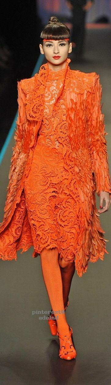 Head to toe orange | Jean Paul Gaultier Couture
