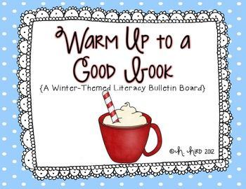 """The perfect winter bulletin board!  Have your students pick their favorite book to warm up to, and write about it!  Included: *Mug tracer *Chocolate Tracer *Marshmallows {or use real ones!} *Planning Sheet/Graphic Organizer *4 Different 'Warm Up"""" Prompts *Example Photos  This bulletin board is a staple of mine every year."""