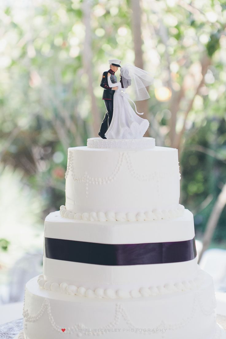 Perfect cake topper for a Marine wedding.