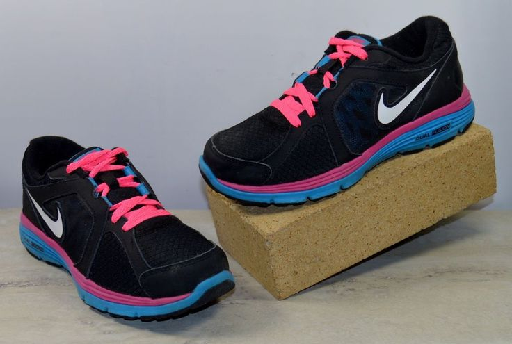 Nike Dual Fusion Black Pink Running Sneakers Youth Size 4.5 M #Nike #Athletic #Casual