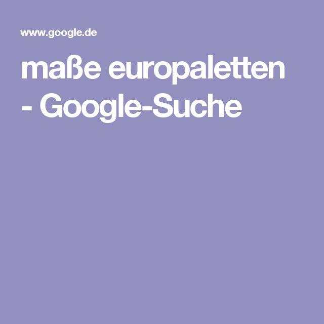 maße europaletten - Google-Suche