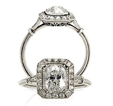 17 Best ideas about Art Deco Engagement Rings on Pinterest
