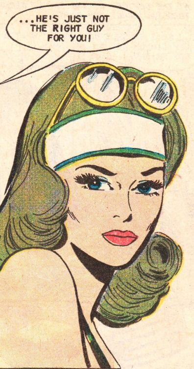 "Comic Girls Say.. ""..He's just not the right guy for you!"" #comic #vintage"