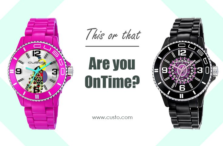 Are you OnTime?  Get the watches at custo.com